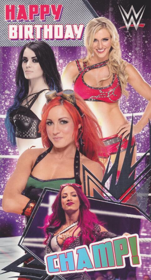 Wwe Wrestling Divas Birthday Card Cardspark