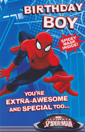 Spiderman - Birthday Boy Card