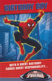 Spiderman - Birthday Boy's Card