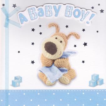 Boofle - Baby Boy's New Birth Card