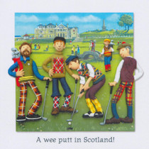 Scottish Golf Card