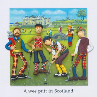 Scottish Golf Card