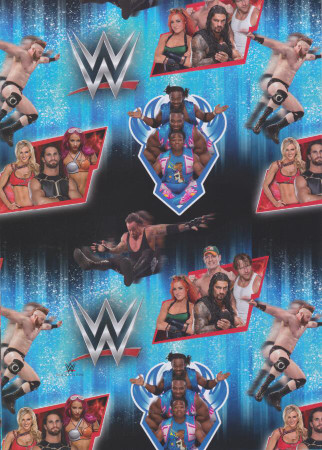 wwe wrapping paper