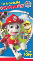 Paw Patrol - Grandon's Birthday Card