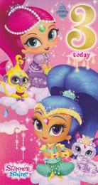 Shimmer & Shine - 3rd Birthday Card