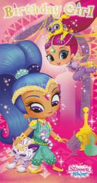 Shimmer And Shine - Girl's Birthday Card
