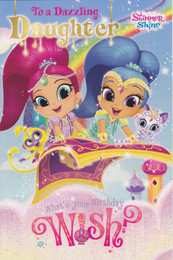 Shimmer & Shine - Daughter's Birthday Card