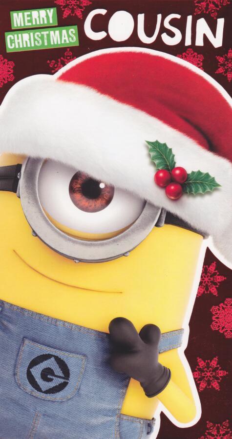 1cf208e65723a Despicable Me Minion Made - Cousin Christmas Card. Minion Made - Cousin s Christmas  Card. Loading zoom