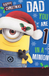Minion Made - Dad's Christmas Card