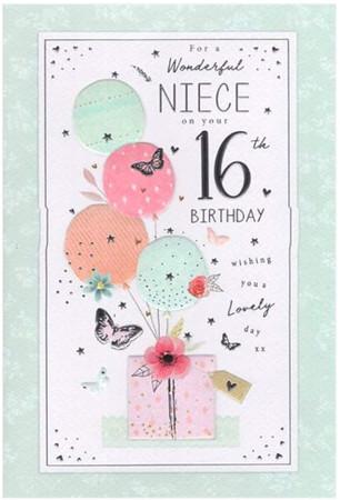 Niece's 16th Birthday Card