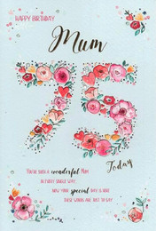 Mum 75th Birthday Card