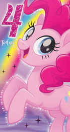 My Little Pony - 4th Birthday Card