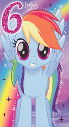 My Little Pony - 6th Birthday Card