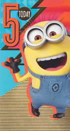 Despicable Me 3 5th Birthday Card