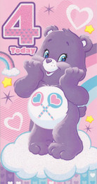 Care Bears - Age 4 Birthday Card