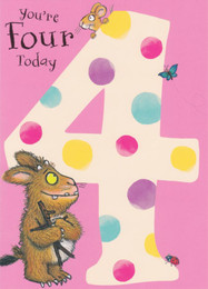 Gruffalo's Child - Age 4 Birthday Card