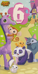 Animal Jam - 6th Birthday Card