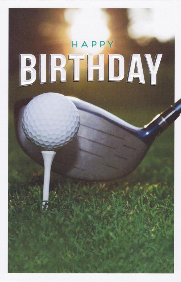 Golfers Birthday Card Loading Zoom