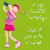 Scottish Golf Birthday Card