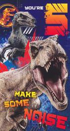 Jurassic World - Age 5 Birthday Card