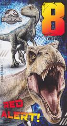 Jurassic World - Age 8 Birthday Card