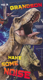 Official Jurassic World - Grandson's Birthday Card