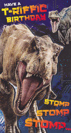 Jurassic World - Any Age Birthday Card