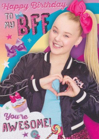 JoJo Siwa - BFF Birthday Card