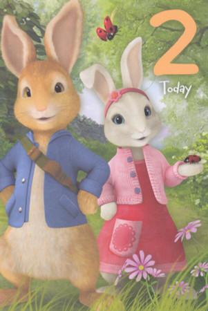 Peter Rabbit - 2nd Birthday Card