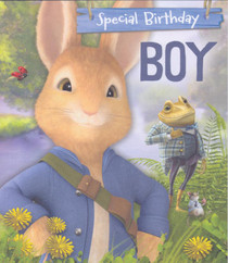 Peter Rabbit - Boy's Blue Birthday Card