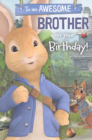 Peter Rabbit - Brother's Birthday Card -  Squirrel Nutkin