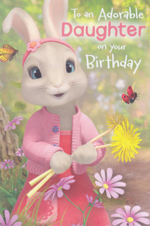 Peter Rabbit - Daughter's Birthday Card