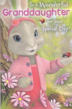 Peter Rabbit - Granddaughter's Birthday Card