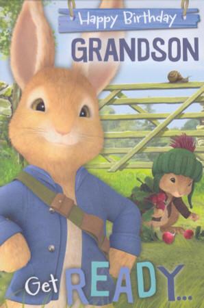 Peter Rabbit - Grandson's Birthday Card