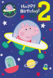 Peppa Pig Age 2 Birthday Card