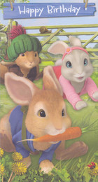 Peter Rabbit -  Birthday Card