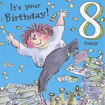 The World Of David Walliams - Age 8 Birthday Card