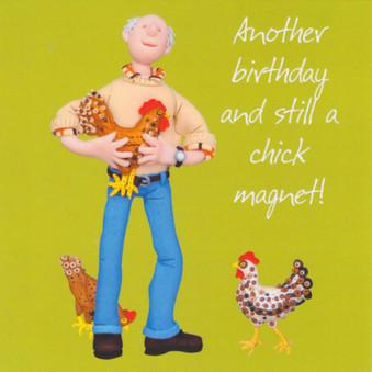 Chick Magnet Birthday Card