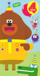 Hey Duggee - 4th Birthday Card