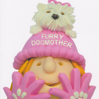 Furry Dogmother Greeting Card