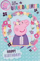 Peppa Pig Granddaughter Birthday Card