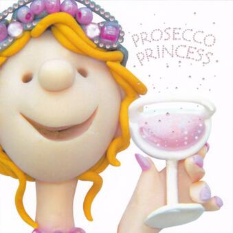 Prosecco Princess Greeting Card