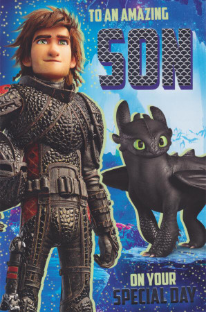 Train Your Dragon - Son's Birthday Card