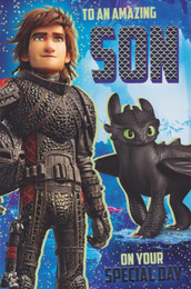 Train Your Dragon - Son's Birthday Card