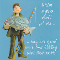 Humorous Welsh Angler Birthday Card