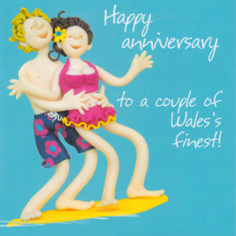Welsh Anniversary Card - Wales's Finest