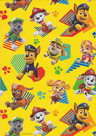 Paw Patrol - Wrapping Paper - Yellow