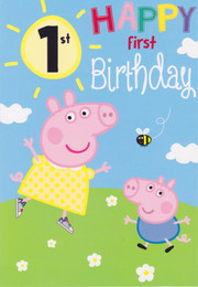 Peppa Pig - Age 1 Birthday Card