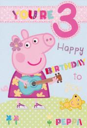 Peppa Pig - Age 3 Birthday Card