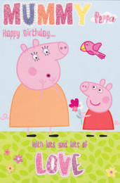 Peppa Pig - Mum Birthday Card